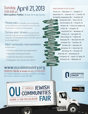 EDOS Is Featured at the 2013 OU Community Fair on April 21st in NYC