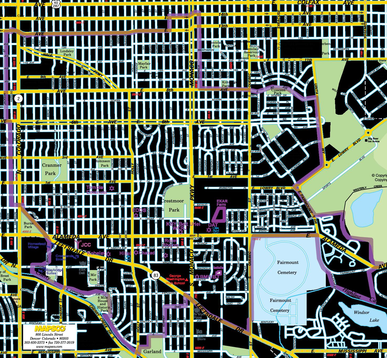 Denver East Side Map